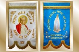 09a2 chorągiew św.Jan P. II -MB Fatim