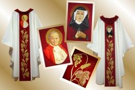 22 ornat św.JPII-św.Faustyna_15 (w-winoII)