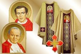 24ornat_bł.Popiełuszko + Jan Paweł II  Solidarność