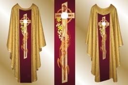 01a3 ornat eucharystyczny z krzyżem_07 złot
